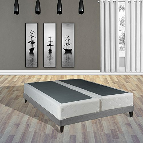 Spinal Solution 8-Inch Queen Size Fully Assembled Split Foundation Box Spring for Mattress, Sensation Collection (Mattresses Split Queen)