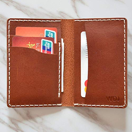 - Minimalist Leather Bifold Wallet For Men Personalized Thin Front Pocket Groomsman Gift Buttero Slim Card Holder