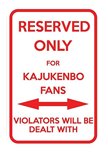 Parking For Kajukenbo Fans Others Will Be Dealt With 12X18 Aluminum Metal (Fans Reserved Parking Sign)