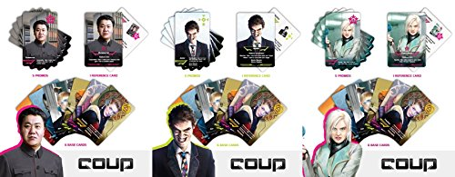 Coup : Kickstarter Promotional Card Pack Bureaucrat, Speculator, Jester - 3x Bundle