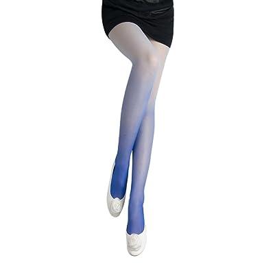 SOMESON Bas Collants Gradient Gradient Vintage Collants Femmes Filles  Collants Mode Sur Les Bas De Genoux RayéS Bas De Couleur DéGradé (bleu)   Amazon.fr  ... 7f42961aa42