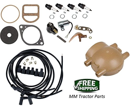 Complete Ignition Tune up kit Ford 9N 2N & 8N Tractors Front Mount Distributor from Unknown