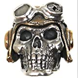Pilot (Large) Paracord / Lanyard Bead in .925 Sterling Silver & Bronze by GD Skulls