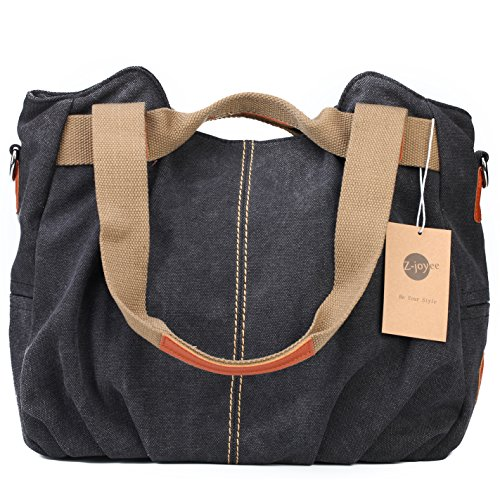 Z-joyee-Womens-Ladies-Casual-Vintage-Hobo-Canvas-Daily-Purse-Top-Handle-Shoulder-Tote-Shopper-Handbag