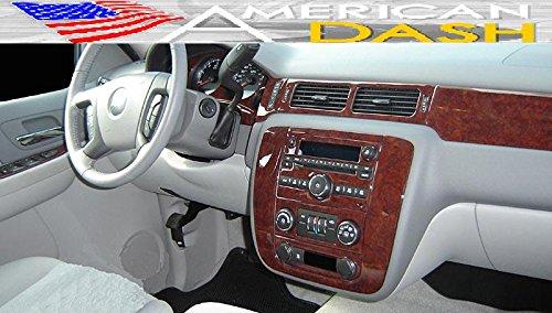 Amazon.com: CHEVROLET CHEVY AVALANCHE LS LT LTZ 2007 2008 2009 INTERIOR BURL WOOD DASH TRIM KIT SET: Automotive