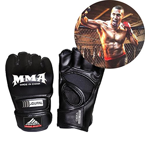 Sports Pro Style MMA Muay Thai Grappling Training Sparring Half Mitts Gloves - Prime Training Gloves 16 Oz Grey