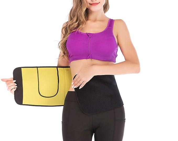 75e629f4a7a DODOING Waist Trimmer Trainer Belt Neoprene Sauna Sweat Slimming Belt Corset  Body Shaper at Amazon Women s Clothing store