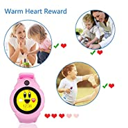 TKSTAR Smartwatch with Camera for Kids Anti-Lost SOS APGS/LBS Camera Wrist Watch Pedometer,Timer Watch Activity Tracker Safety Monitor for iPhone,Android (Round 1.22'' OLED - Pink)
