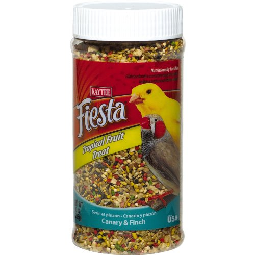 Kaytee Pet Products BKT100502828 Fiesta Tropical Fruit Canary and Finch Treat Jar, 10-Ounce, My Pet Supplies
