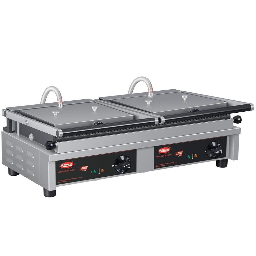 "B07SQVR378 TableTop King MCG20G Multi Contact Double Panini Sandwich Grill with Grooved Cast Iron Plates - 20"" x 10 1/4"" Cooking Surface - 240V, 3760W 51iJ8j9TCrL._SL1000_"