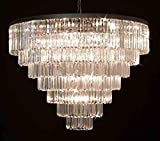 Retro Palladium Empress Crystal ™ Glass Fringe 7 Tier Chandelier Chandeliers Lighting Review