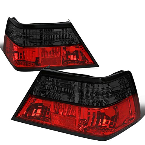 1992 Mercedes - For 1986-1995 Mercedes E-Class W124 Pair Red/Smoked Lens Tail Light Brake Lamps