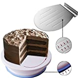 Tomnk 11inch Cake Stand Cake Turntable Cake Decorating with 10inch Cake Shovel Transfer Cake Tray Moving Plate Cake Lifter