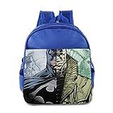 Kids Batman School Backpack Fashion Baby Children School Bag RoyalBlue