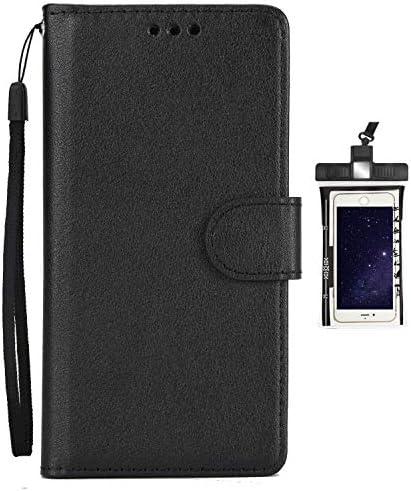 手帳型 Huawei Mate20 ケース アイフォン 手帳型 本革 レザーケース 財布型 カード収納 マグネット式 保護ケース 軽量 スマホケース スマートフォンケース 全面保護 [無料付防水ポーチ水泳など適用]