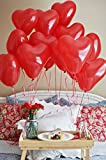 Red Heart shaped balloons ( Pack of 100 premium balloons )