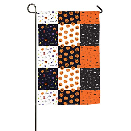 Halloween Pumpkins,Skulls,Bats (2) Pattern Garden Flag Fashion Garden Home Flag Spring Summer Decorative Flag -