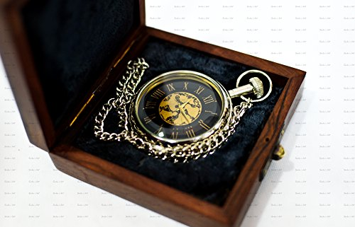 Hamilton White Pocket Watch - Sailor's Art Royal Dial Nickel Pocket Watch With Chain
