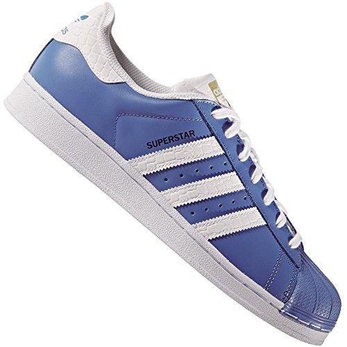 adidas Superstar Foundation Herren Sneakers Ray Blue/White