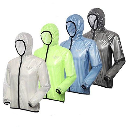 Outdoor UV Clothing Jackets Skin Raincoat Sun Protection Rainwear (Blue : M)
