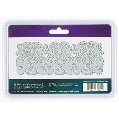 Crafter's Companion Die 'sire Fancy Edge 'able Metal Dies, 5.3'' L x 2'' W, Rococo by Crafter's Companion