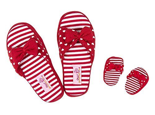 Our Generation You & Me Jersey Slip-Ons - Includes Shoes for Girl and Shoes for Doll - Girls Size Small Red/White