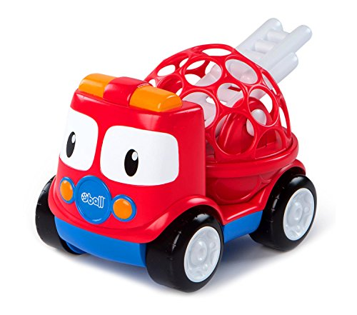 Oball Go Grippers Fire Truck Toddler, Multicolor, 4.5