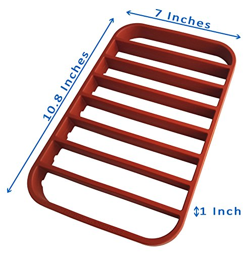 Rack Insert - Roasting Rack for Pan - Oven Rack | Baking Rack for Oven Use - Roast Rack Nonstick - Red by STAN BOUTIQUE