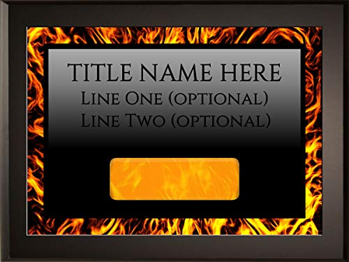 (Employee of The Month DIY Perpetual Fire Plaque Magic Recognition Award Kit - 1 Plate Model - Fully Customizable - Salesperson of The Month - No Engraving Needed Do It Yourself (3-Pack) )