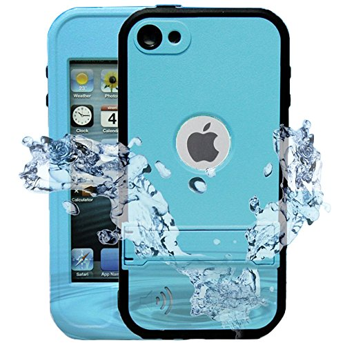 iPod 5 iPod 6 Waterproof Case, Comsoon[Dustproof Sweatproof][IP68 Certified]iPod Touch Defender Case Built-in Touch Screen & Kickstand for Both Apple iPod Touch 5th & 6th Generation