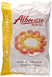 Albanese Passionate Peach Orange-Yellow Gummi Rings, 4.5-Pound Bags (Pack of 2)