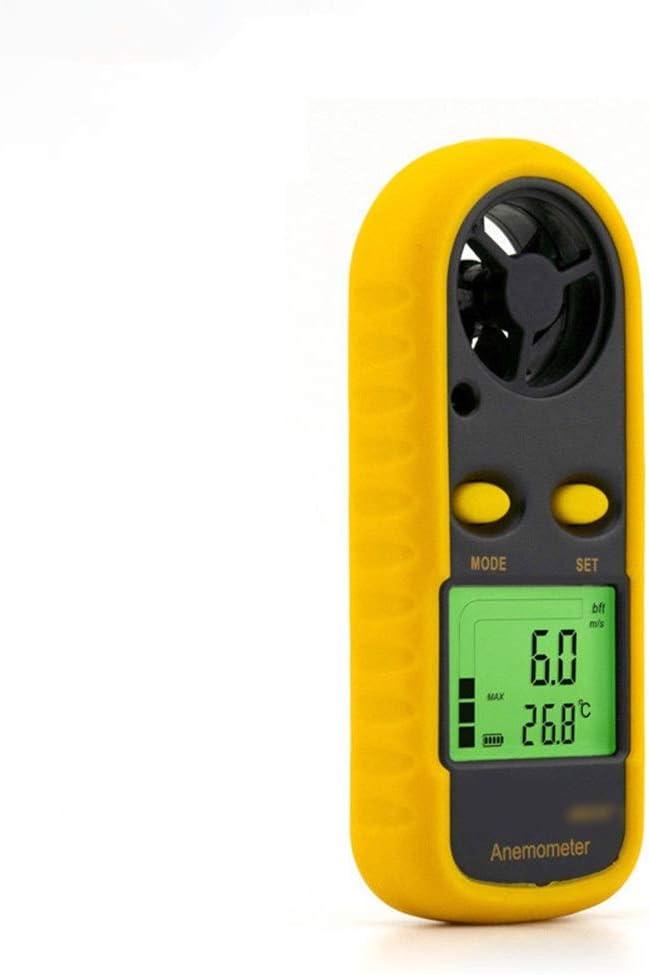 XINXINXIANGRONG Anemometer Hand-Anemometer-Messger/ät Hochpr/äzises Windgeschwindigkeits-Luftmengenmessger/ät Windmesser Luftgeschwindigkeitsmessger/ät Anemograph-Ventometer Color