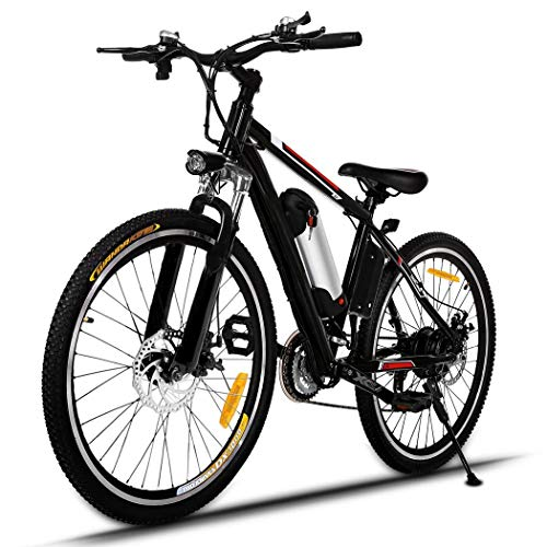 Partm 25 inch Wheel Aluminum Alloy Frame Mountain Bike Cycling Bicycle