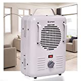 LA BOVA Electric Portable Utility Space Heater Thermostat Room 1500W Air Heating Wall