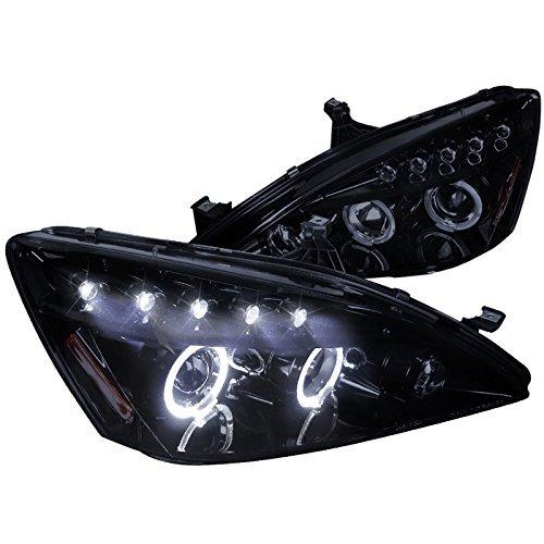 (Spec-D Tuning 2LHP-ACD03G-TM Honda Accord Dual Halo Led Glossy Black Projector Headlights)