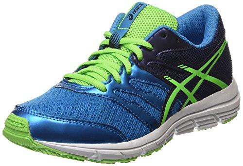 Asics Gel-Zaraca 4 GS, Chaussures de Running Compétition Mixte Enfant Bleu (Methyl Blue/Green Gecko/Indigo Blue 4285)