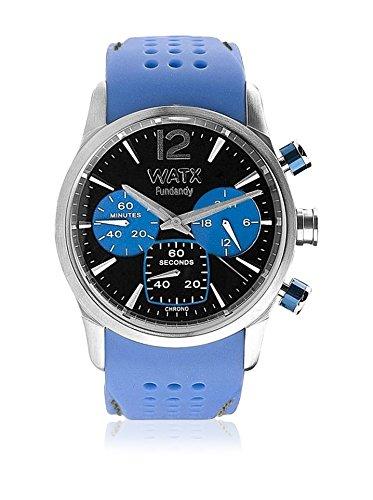 Watx RWA0489 - Reloj para Hombre con Correa de Caucho, Color Azul/Gris