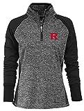 NCAA Finalist Women's Quarter-Zip Pullover Rutgers Scarlet Knights Large Black