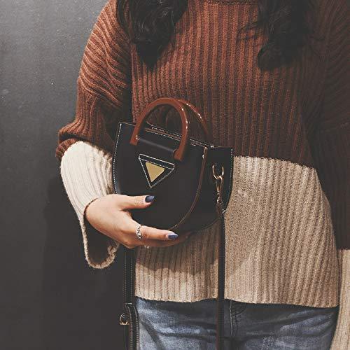 Transparente Contraste Lentejuela Paquete Cuadrada Mujer Impresión Tendencia Carta Bolso Bolsa Pequeña De Retro Costura Color Láser Gelatina 4w0gv