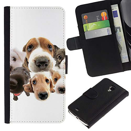 EuroCase - Samsung Galaxy S4 Mini i9190 MINI VERSION! - beagle Labrador retriever dogs breed - Cuero PU Delgado caso cubierta Shell Armor Funda Case Cover