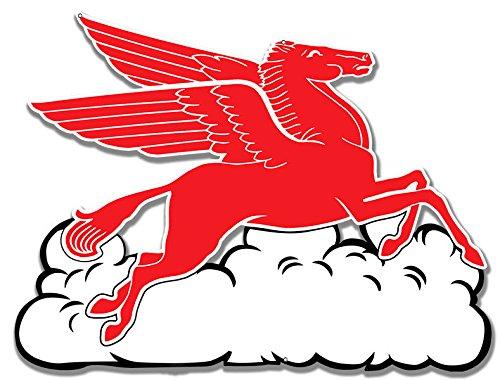 Pegasus Flying Horse Cloud Motor Oil Sign 233/4 X 18
