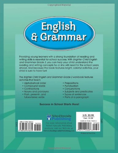 Workbook contraction worksheets for grade 3 : Brighter Child® English and Grammar, Grade 3 (Brighter Child ...
