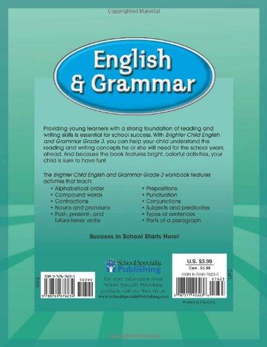 Brighter Child® English and Grammar, Grade 3 (Brighter Child ...
