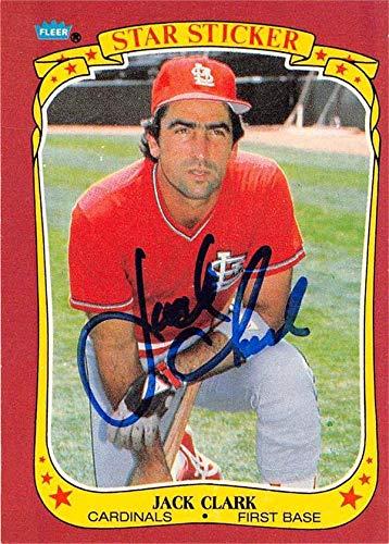 - Jack Clark autographed baseball card (St Louis Cardinals) 1986 Fleer Star Sticker #24 - Baseball Slabbed Autographed Cards