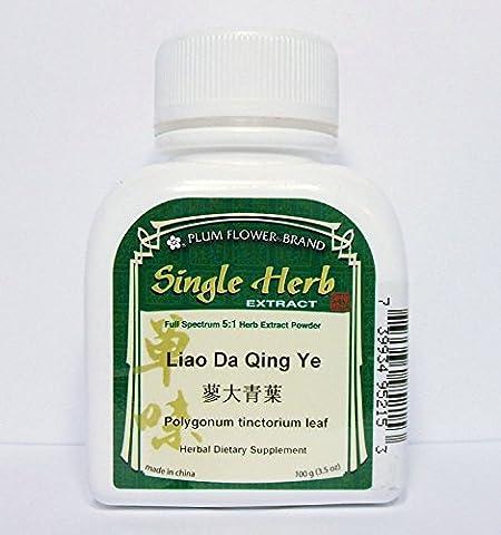 Indigo Leaf Herb Extract Powder / Liao Da Qing Ye / Polygonum Tinctorium, 100g or 3.5oz (Holistic Granules)