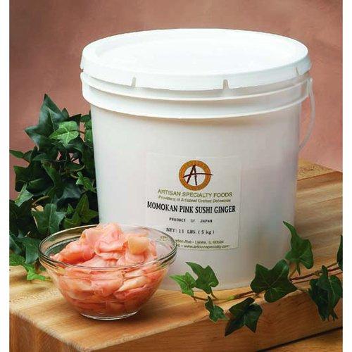 Momokan Pink Pickled Sushi Ginger - 11 Lb