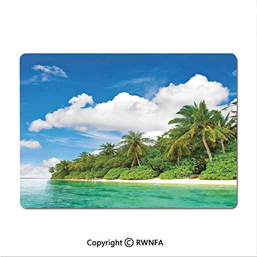 Non-Slip Rubber Base Mouse pad Tropical Coral Reef with Seaweed Algae Jellyfish Aquatic Saltwater Nemo Theme(9.8