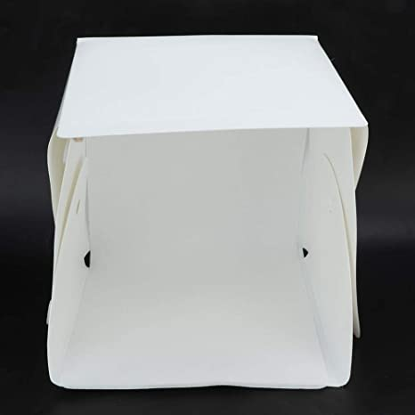 Vbestlife Portable Mini Photo Box Undimmable 40 LED Lights Small Photography Studio 20cm20cm20cm Portable Light Room Photography Lighting Tent Box Kit with 6 Color Background