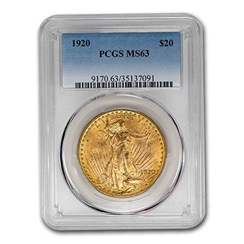 1920 $20 St. Gaudens Gold Double Eagle MS-63 PCGS G$20 MS-63 PCGS