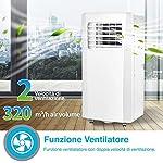 Bakaji-Condizionatore-Portatile-7000-BTU-21-kW-Climatizzatore-Gas-Naturale-R290-Aria-Condizionata-Funzione-Ventilatore-Deumidificatore-Timer-e-Telecomando-per-Ambienti-25mq-Lifetimeair